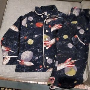 Boys Land's End space pajamas 2 piece